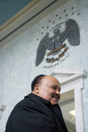Martin Luther King III advocating for Bill HR-8