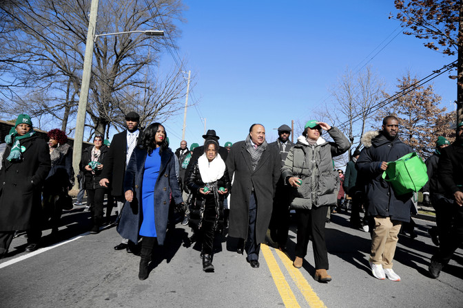 King Family marching in Washington, D.C. on MLK Day 2020