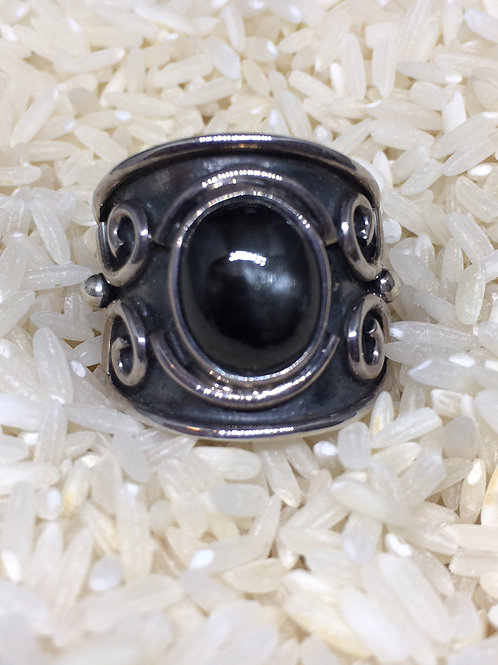 Star Diopside Sterling Silver Ring