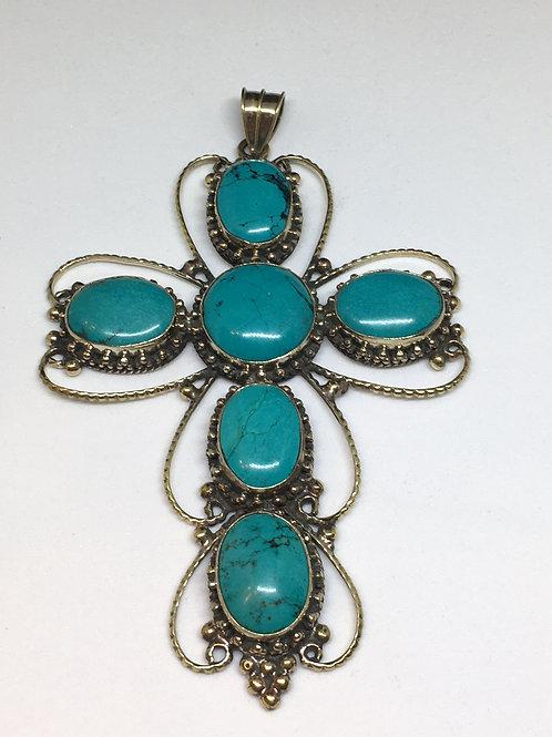Tibetan Turquoise Cross