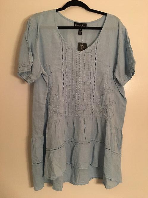 Gretty Zueger Blue Bell Short Sleeve Tunic