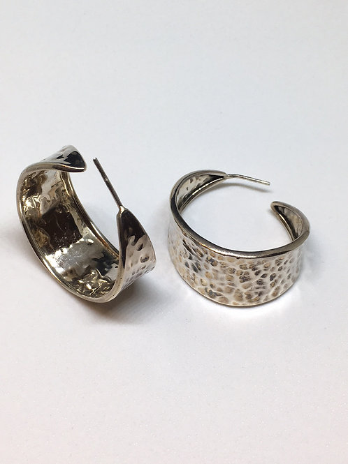 Hammered Sterling Silver Earrings