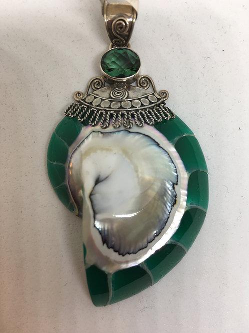 Sea Shell Sterling Silver Pendant