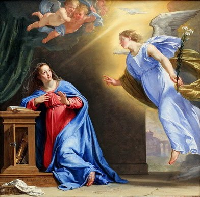 The Angel Gabriel Appears to Mary