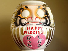 HAPPY WEDDINGだるま