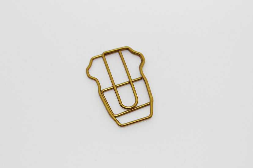 Coffee Cup Paperclip - Antique Gold
