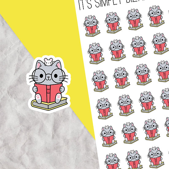 Reading Cat Planner Stickers