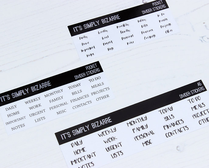 Clear Planner Divider Tab Stickers