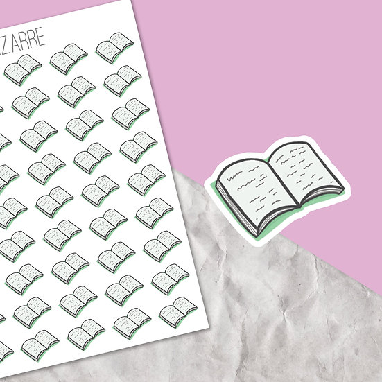 Reading Book Stickers