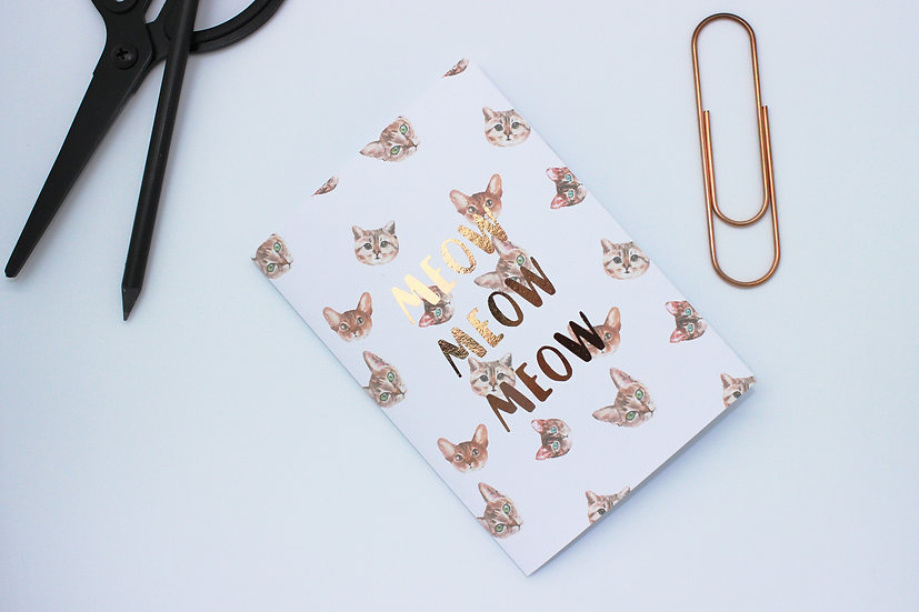 Metallic Cat Travellers Notebook Insert