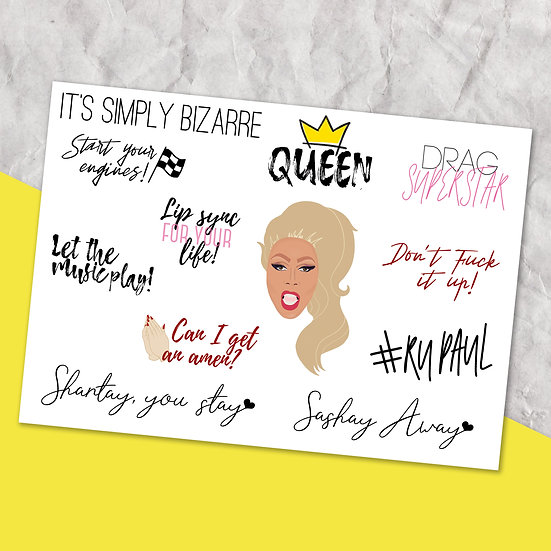 Ru Paul Quote Stickers