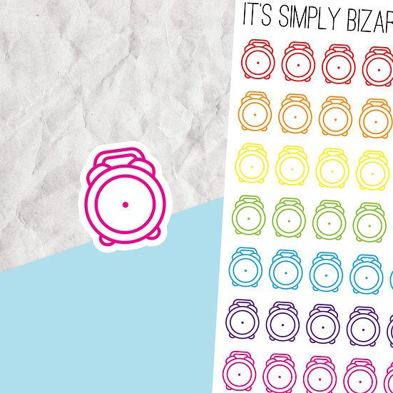 Blank Clock Planner Stickers