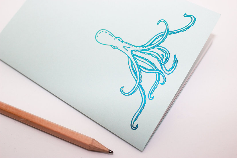 Metallic Octopus Travellers Notebook Insert
