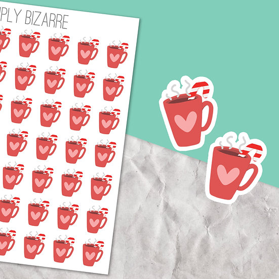 Christmas Hot Chocolate Stickers