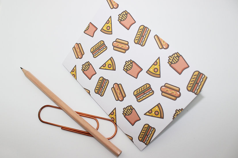 Fast Food Print Travellers Notebook Insert