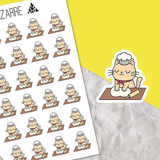 Baking Cat Planner Stickers