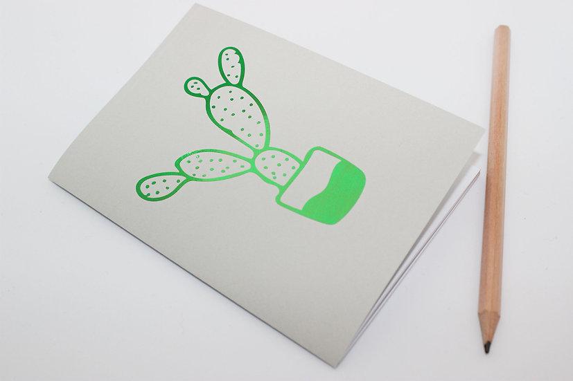 Metallic Cactus Travellers Notebook Insert