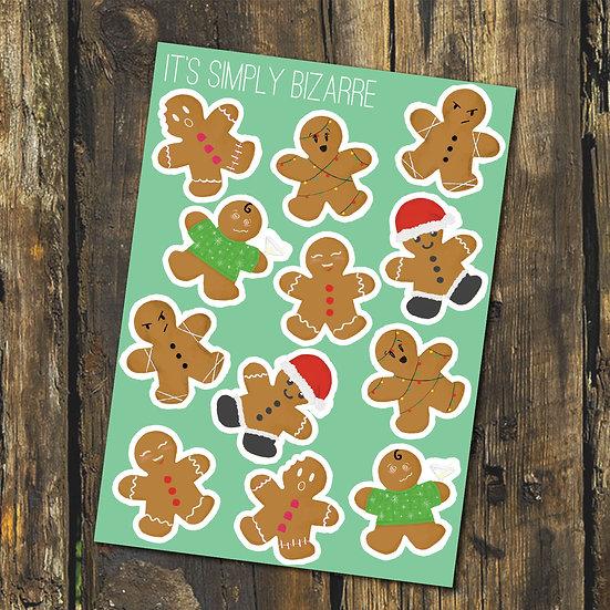 Gingerbread Men Stickers