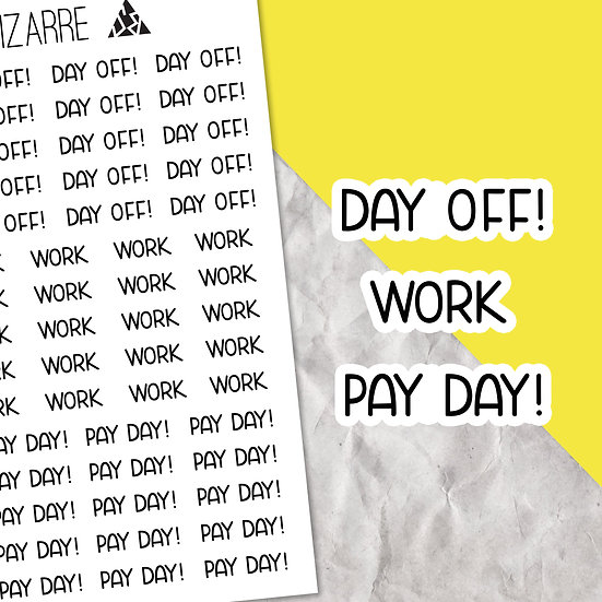 Work Script Stickers