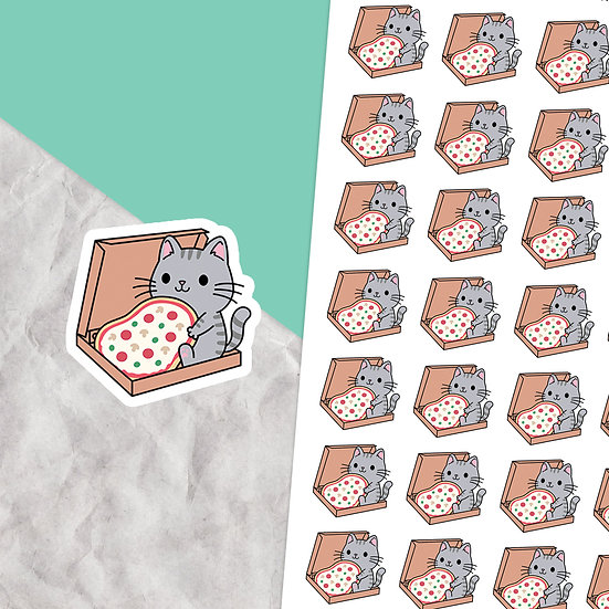 Pizza Cat Planner Stickers