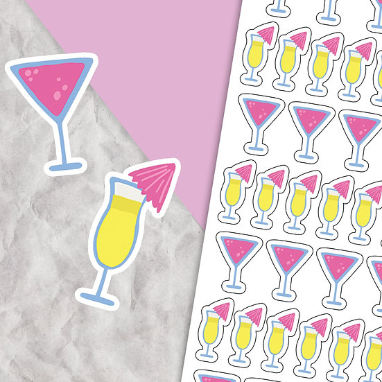 Cocktail Sticker Sheet