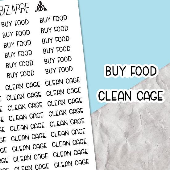 Hamster Care Script Stickers