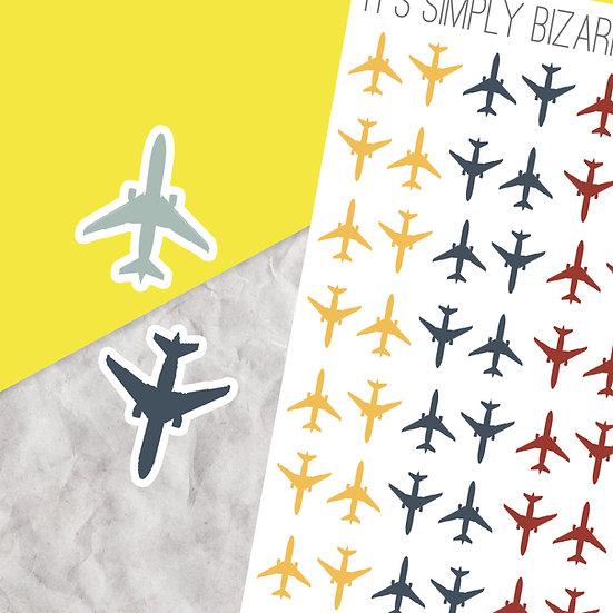 Plane Travel Stickers