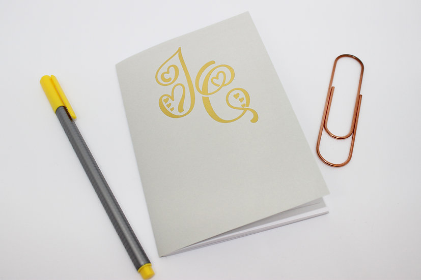 Personalised Gold Monogram Travellers Notebook Insert