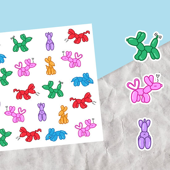 Balloon Dog Stickers