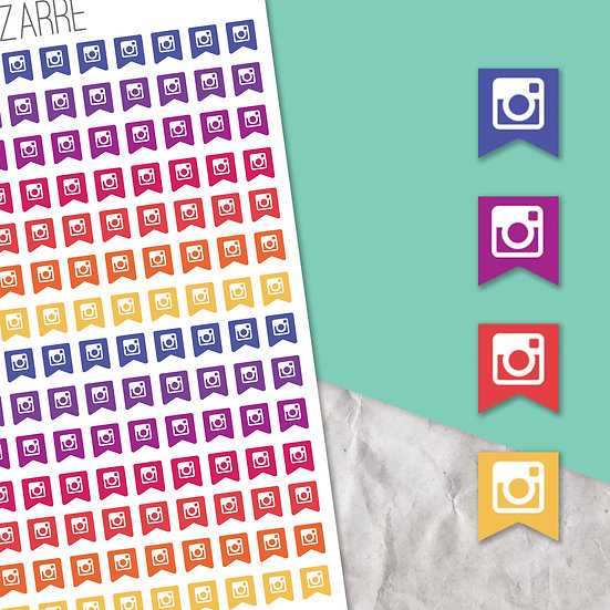 Instagram Mini Flag Stickers