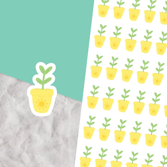 Potted Plant Stickers