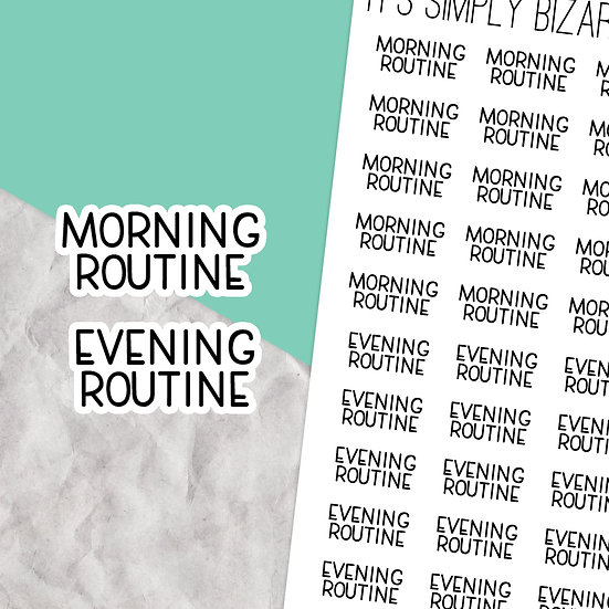 Morning / Evening Routine Script Stickers