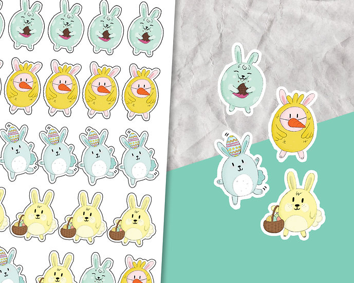 Easter Bunny Sticker Sheet