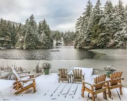 snow on dock