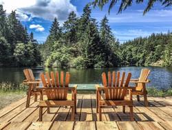 summer chairs at lake