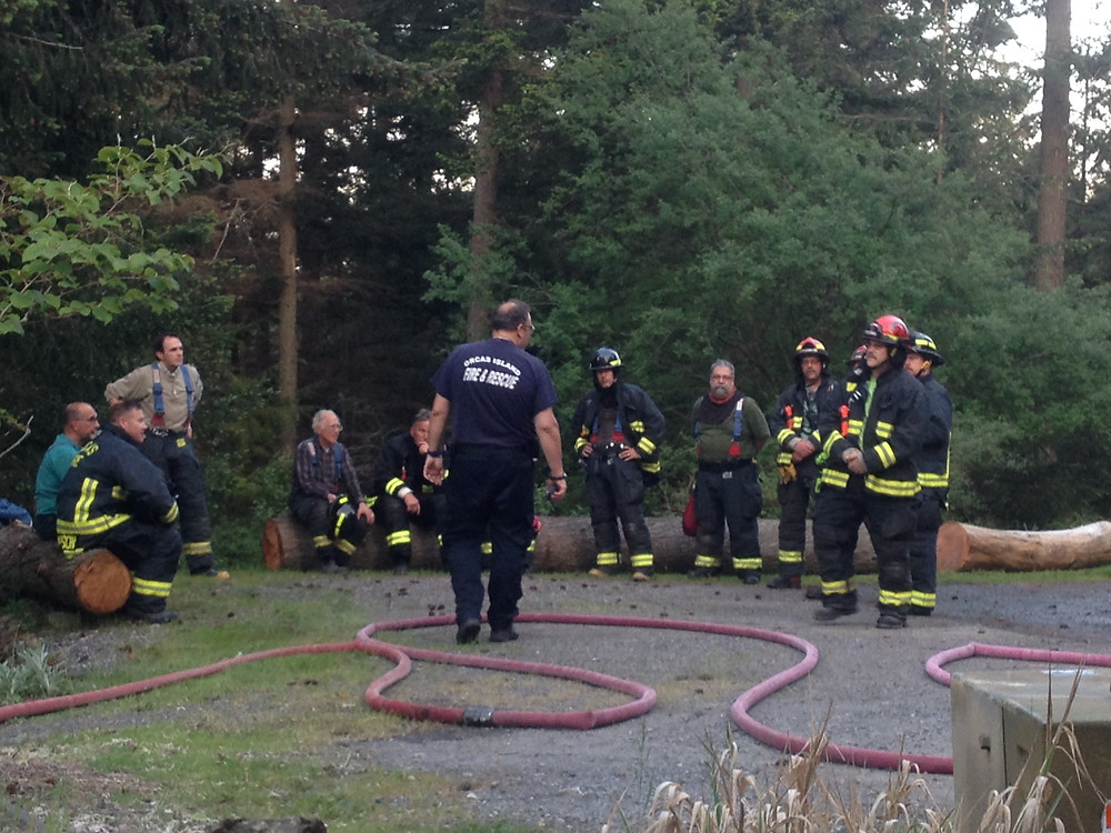 Thank you Orcas Fire and Rescue Team for keeping us safe!