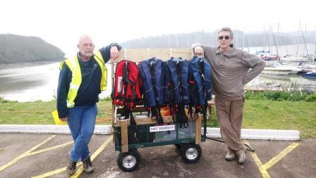 Roger Andrew Trolley Shoreparty gear lifejackets