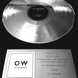 Oh Wonder Silver Disc UK