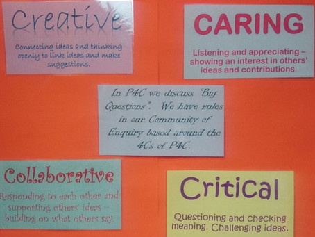 Exploring the 4C's of P4C with students
