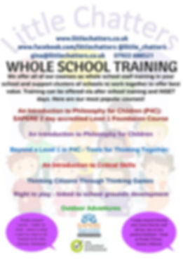 Whole school training available with Little Chatters