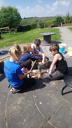 Forest Schools Fire building