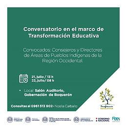 Conversatorio en el marco de Transformación Educativa