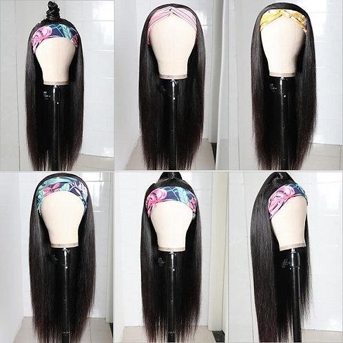Straight Hair Head band wig