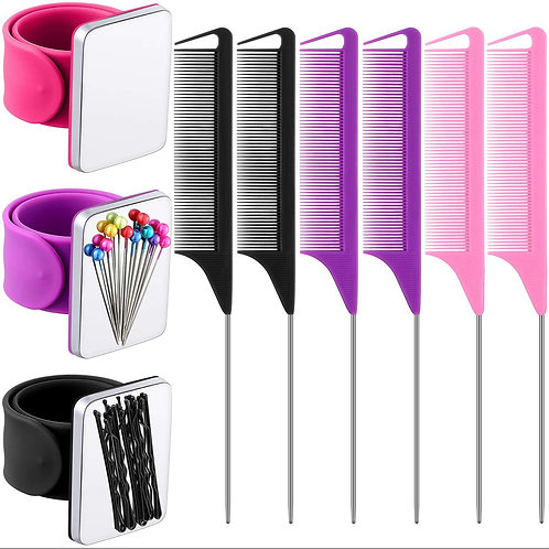 Magnetic Wrist Band with 1 precision rat tail comb