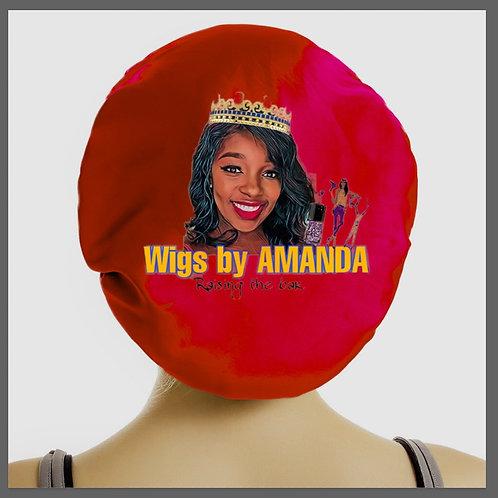 Wigs by Amanda satin bonnet
