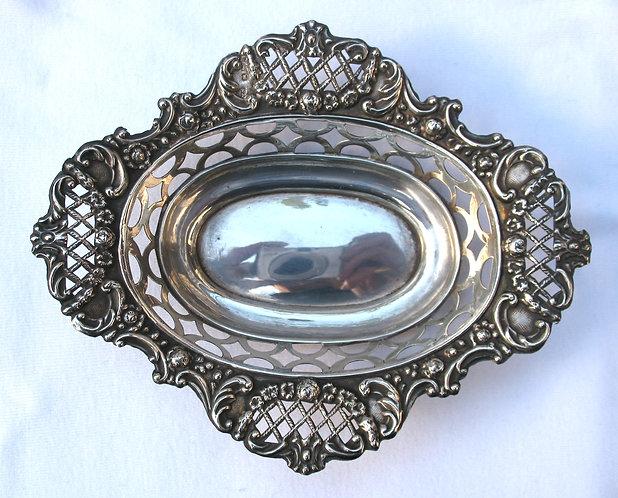 Silver pierced tray