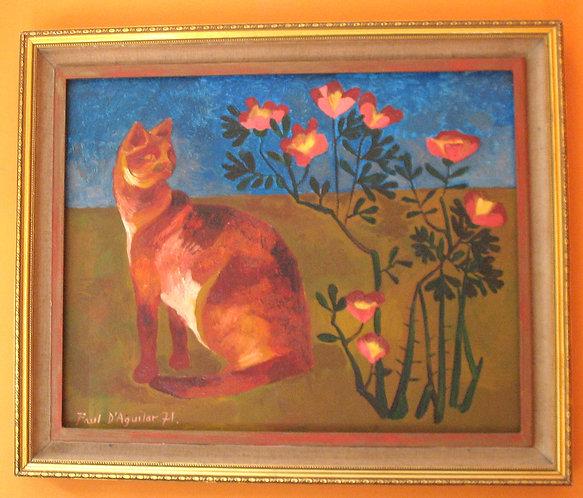 Painting, oil, signed Paul D'Aguilar