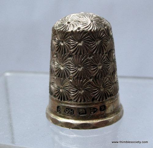 Silver thimble, hll mkd C.H. Ches 1900