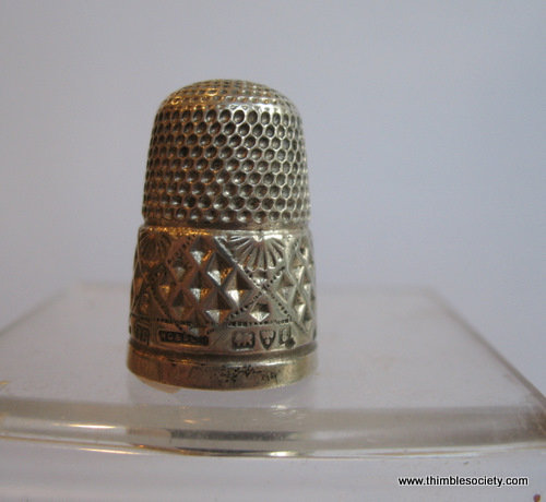 Silver Thimble silver diamond pattern