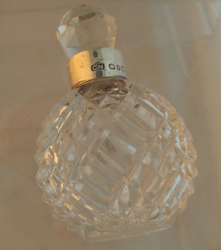 Cut glass scent bottle